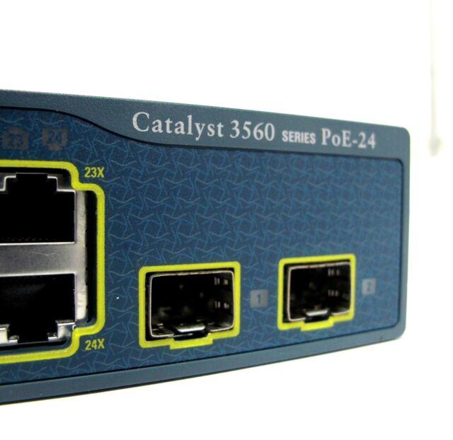 CISCO CATALYST 3560 SERIES PoE-24 WS-C3560-24PS 24 PORT PoE SWITCH - FREE DEL