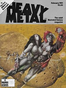 HEAVY METAL VOL 4 #11 FEB 1981 WILLIAM BURROUGHS RICHARD CORBEN MOEBIUS R VEITCH