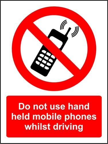 Ne pas utiliser De Poche Mobiles tandis que la conduite signal de sécurité