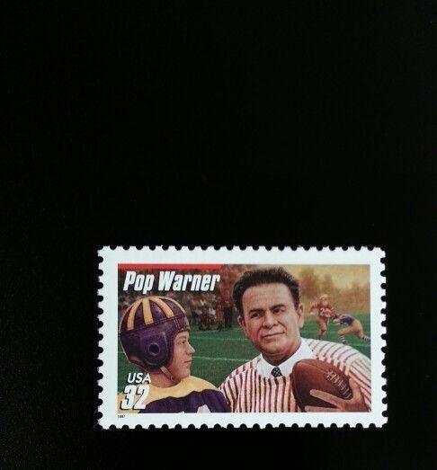 1997 32c Pop Warner, Football Player & Coach Scott 3149