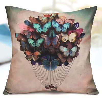 Soft Cotton Butterfly Balloon Sofa Throw Pillow Case Cushion Cover Home Decor
