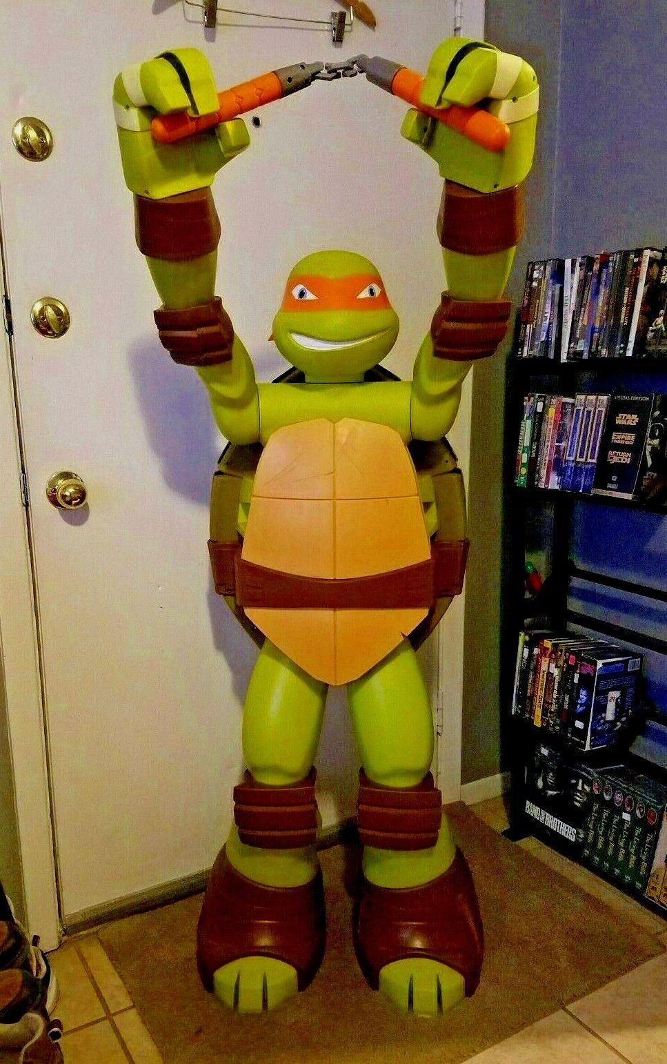 calidad auténtica Vida Tamaño Tamaño Tamaño 4 ft alto Teenage Mutant Ninja Turtles Statue Man Cave Miguel Ángel  Las ventas en línea ahorran un 70%.