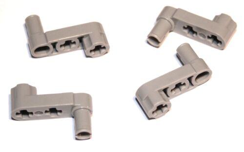 4x LEGO® Technic 33299 Liftarm//Kurbel 1x3 Mit Pin//Achsloch NEU hellgrau alt