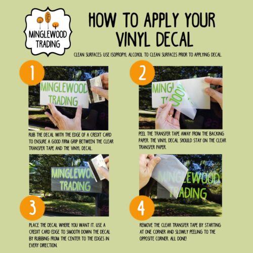 Welcome Vinyl Decal Home Decor Die Cut Decal Vertical Design