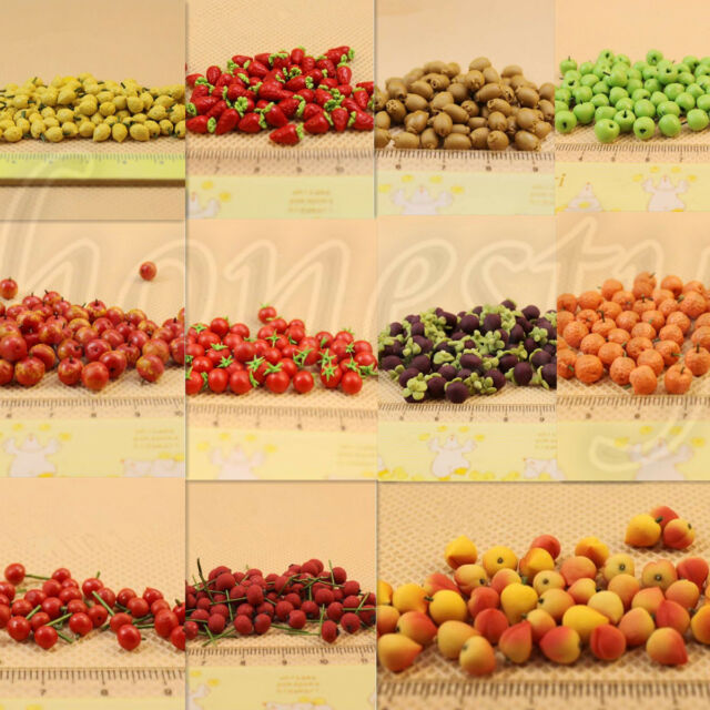 MagiDeal 10pcs Simulation Fake Fruit Toy for 1//12 Dollhouse Kitchen Ornament