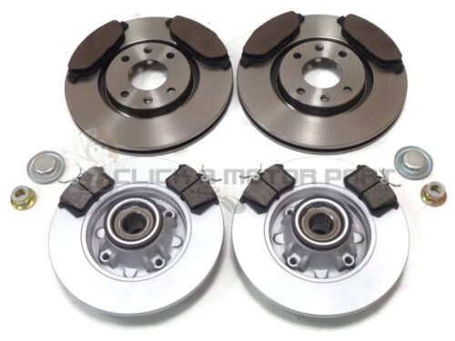 PEUGEOT 308 CC 1.6 HDi FRONT /& REAR BRAKE DISCS /& PADS WHEEL BEARINGS ABS RINGS