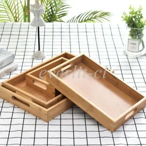 Wooden Serving Tray for Food Snack Tea Coffee Cocktail Meal Cake Breakfast Plate