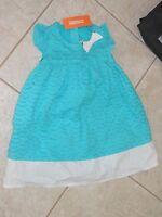- Gymboree tide Pool Turquise & White Eyelet Sleeveless Dress - 18-24 Mos