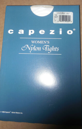 NWT Capezio 145 Stirrup Tights Child//Adult White Hold /& Stretch Lycra Praisewear