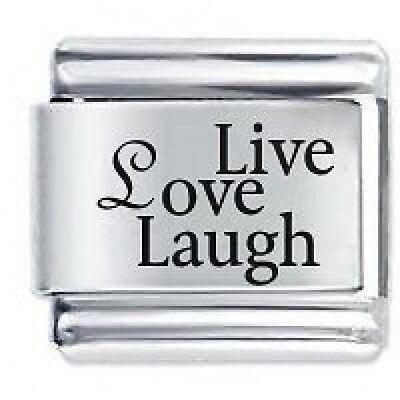 LIVE LOVE LAUGH  Daisy Charm Fits Genuine Nomination Classic Size Italian Charm