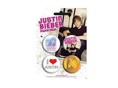 Music Blister 4 Badges Justin Bieber Official Justin Bieber Official Badge Pack Exquisite Traditional Embroidery Art
