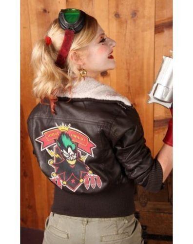 Women/'s Comic Wild Joker Harley Quinn Suicide Squad Bombshell Leather Jacket