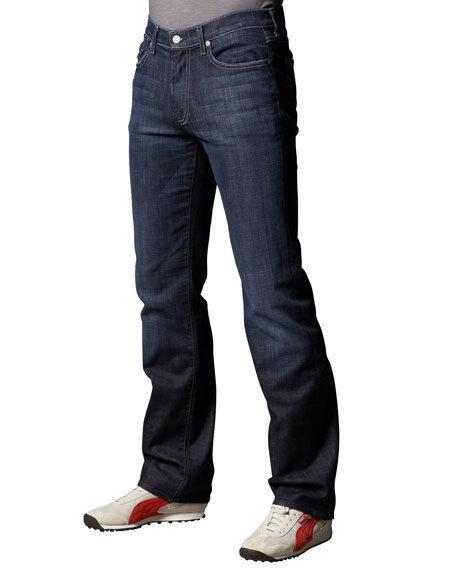 For All 7 Mankind Dark bluee Austyn Cotton Stretch Denim Stright Leg Man Pants 28