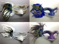 Peacock Feather Women Venetian Masquerade Ball Prom Party Custom Mask