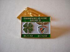 a1 BENFICA - CELTIC cup uefa champions league 2008 spilla football calcio pins