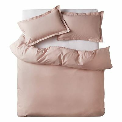 NEW Blush CRUSHED COTTON queen quilt cover By Freedom