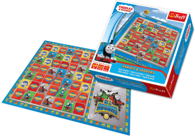 Trefl Kids Snakes & Ladders Thomas & Friends Traditional Family Boys Board Game