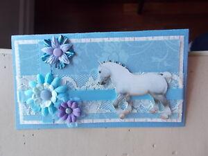 Image is loading Custom-Blue-Clydesdale-Stallion-Model-Horse -Checkbook-Cover-