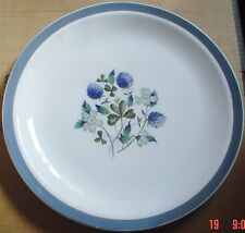 Alfred Meakin Glo White Ironstone Dinner Plate BLUE CLOVER