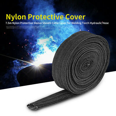 Denim Welding Tig Torch Protective Sleeve Sheath Cable Cover Hydraulic Hose 7.5m