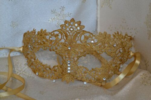 Gold Masquerade Mask Diamante Venetian Style New Year/'s Party Masked Balls Gifts