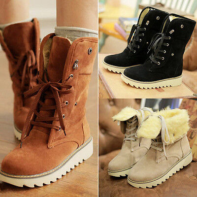 Fashion Women boots comfort shoes flats round toes Ankle Winter Warm boots #JKL