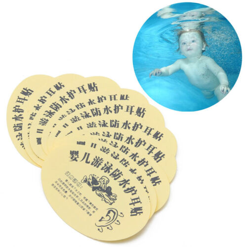 10x Baby Infant Newborn Bath Swimming Waterproof Ear Stickers Paste Kids Earplug