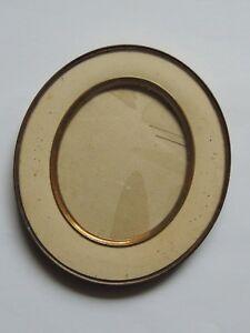Ancien Petit Cadre Oval En Laiton Et Vois Avec Son Verre Pour Miniature Portrait Un RemèDe Souverain Indispensable Pour La Maison