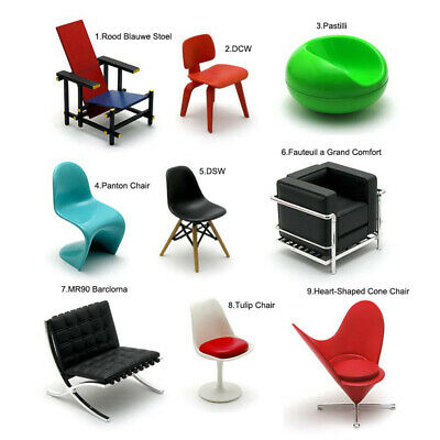 Rare Reac Japan Miniature 1//12 Scale Designer Chairs Vol.6 Each Sell Separately