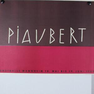 Piaubert-Jean-1960-Kunsthalle-Mannheim-Austellung-60er-Jahre-altes-Plakat-alt