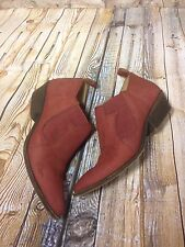 Lucky Brand Ankle Boots Joelle Women US 7 Burgundy Bootie Pre Owned