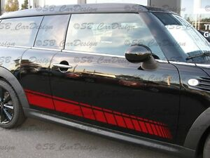 Side-Stripes-Aufkleber-Seitenstreifen-f-BMW-MINI-COOPER-CLUBMAN-R55-Works-Jack