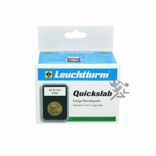 Lighthouse QUICKSLAB 41mm Coin Capsule Slab Holders for 1oz Silver Eagles 5 Pack