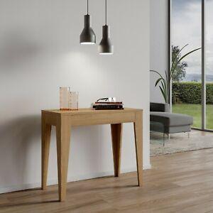 Tavolo Consolle Allungabile Isotta Quercia Natura 14 Posti Cucina Sog Giorno Ebay