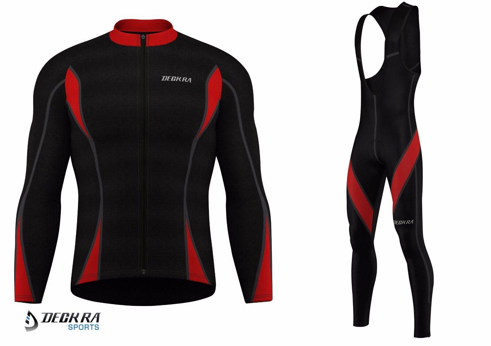 New Long Sleeves  Herren Cycling Thermal Jersey + Padded Bib Tights Thermal Cycling Bike Wear a17ee4