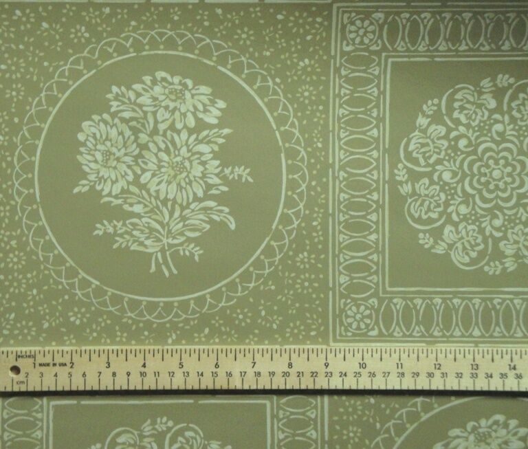 12sr Thomas Strahan Floral Medallion Medallion Medallion Graphic Historical Repro Wallpaper 5d1239