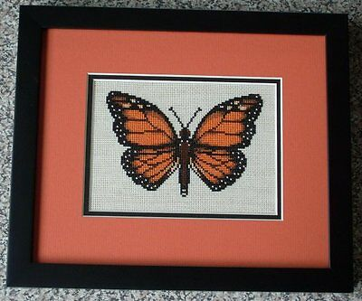 Monarch Butterfly Counted Cross Stitch Pattern