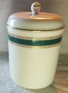 Vintage-Porcelain-Container-Cotton-ball-holder-Bill-Blass-Approximately-5-inches