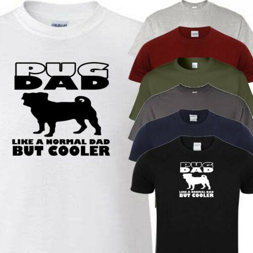 choose colour and size from menu All Dog Breeds Available pug dad t Shirt
