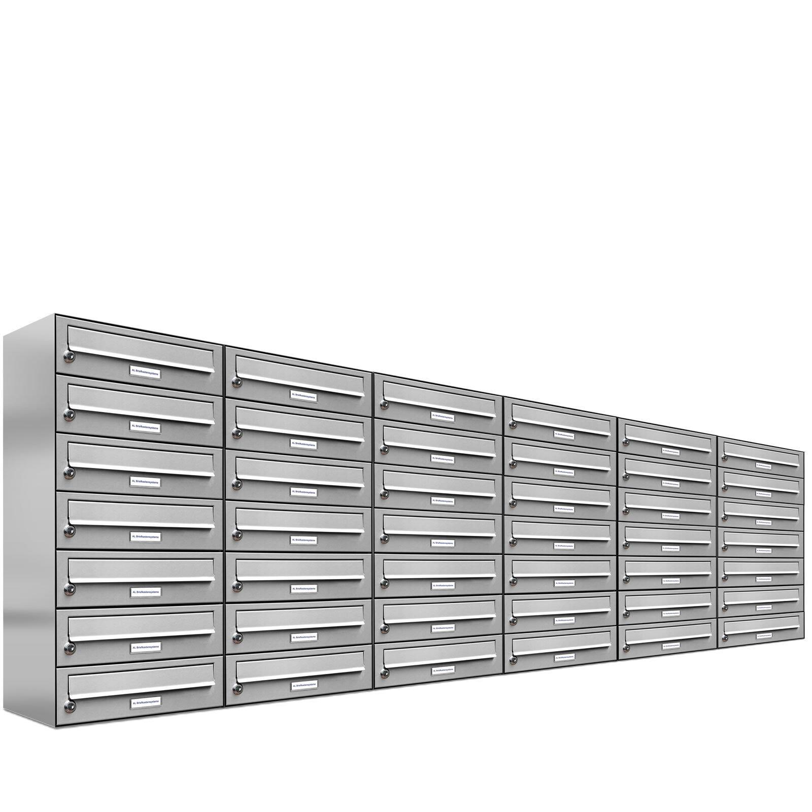 42er Premium Edelstahl Briefkasten Anlage 42 Fach Wandbriefkasten A4 Postkasten