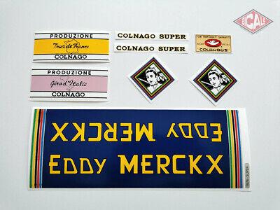 COLNAGO EDDY MERCKX MOLTENI decal ON CHROME FOIL free shipping