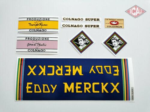 EDDY MERCKX COLNAGO SUPER MOLTENI decal ON CHROME FOIL free shipping