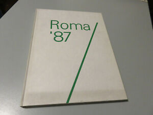 Roma-039-87-Undisputed-Del-Mondo-Of-Athletic-1987-Volume-Illustrated-220-Pages