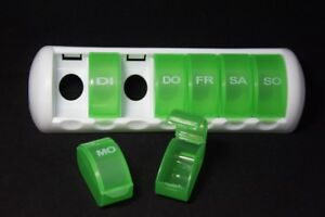 Pillendose-Wochenspender-Pillenbox-Tablettendose-Tablettenbox-7Tage-7Faecher