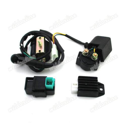 12V AC Ignition Coil CDI Relay Rectifier For ATV Quad 4 Wheeler 50cc 110cc 125cc