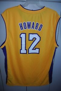 405e01c1950 Los Angeles Lakers Dwight Howard  12 Home Jersey Mens Large Adidas ...