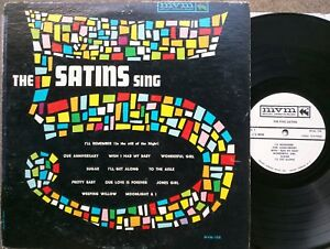 R-amp-B-DOO-WOP-LP-THE-5-SATINS-SING-Mount-Vernon-MVM-108-In-the-Still-of-the-Night