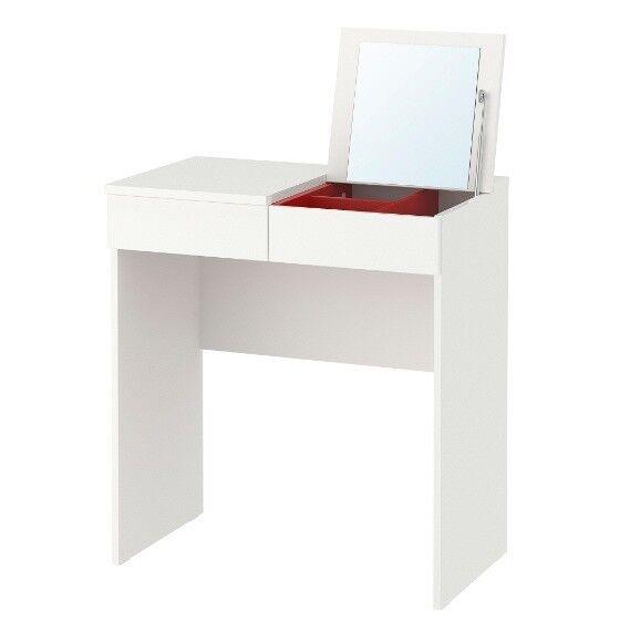IKEA Brimnes Frisiertisch In weiß (70x42cm) Schminktisch ...