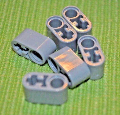 6 +O Light Gray #2 Thick Technic Oval Beam ~ NEW ~ Lego