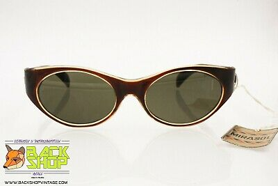 Mirasol Authentic 1960s Sunglasses, Plastic Polimer Material Clear & Brown, Nos Quell Summer Thirst
